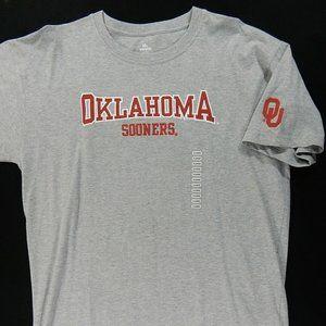 NWT Oklahoma Sooner Stitched Football Tee Shirt